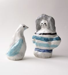 Ceramic sculptures by Jenni Tuominen.