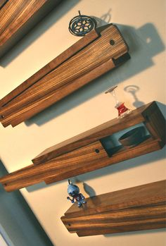 Slide Box Wall Shelving / Decor Set of 4 by PerryAndCoPGH on Etsy, $295.00