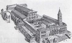 For me the concept of basilica is not only having a big indoor space but also combining multi spaces, In 18C, Basilica can be expressed through the sequence of changing spaces,