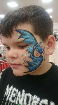Sarah Smith Batman Face Painting Design