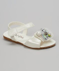 Look what I found on #zulily! White Julia Sandal #zulilyfinds