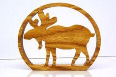 Moose Cabin Sign Moose Trivet by KerflineCrafts on Etsy, $20.00