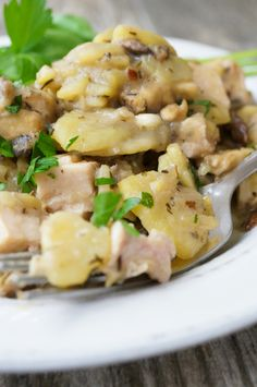 Creamed Mushrooms, Potatoes and Smoked Turkey by Grazed & Enthused (AIP/Paleo)