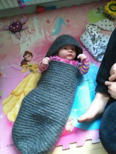 Sleepingbag naalbinding Schlafsack nadelbibden Sovepose i nålebinding