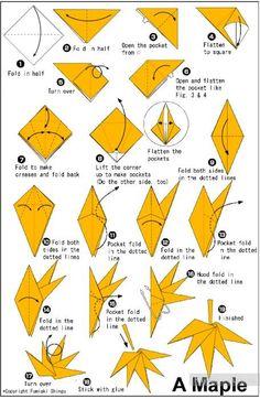 Лист клена. Оригами