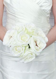 Silk wedding bouquets are a hassle free approach to your wedding day. Open roses give these wedding silk wedding bouquets that fresh out of the garden look. The stems are wrapped in a silky white ribbon for an elegant look. Silk Wedding Bouquets, Silk Flower Bouquets, Flower Bouquet Wedding, Rose Bouquet, Silk Roses, Silk Flowers, Spring Flowers, Dried Flowers, Flowers Garden