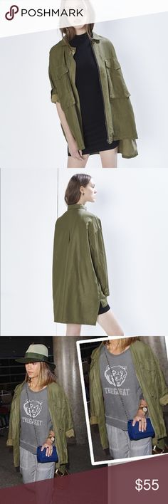 Rebecca Minkoff Beckals Jacket The celebrity favorite Rebecca Minkoff Beckals Jacket is an oversized military style that is super comfortable and chic. It's lightweight and it has plenty of pockets. Style it with a slip dress and your black leather boots for a grunge chic look! Rebecca Minkoff Jackets & Coats Utility Jackets