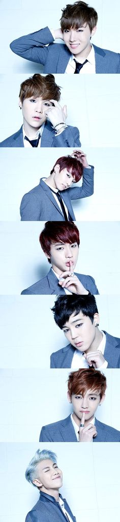 J-Hope + Suga + Jungkook + Jin + Jimin + V + Rap Monster = BTS ♥ the lower you scroll, the better it gets!