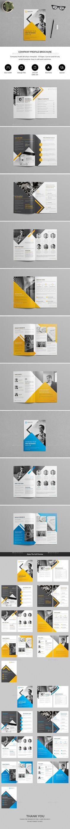 Company Profile Brochure — InDesign INDD #startup #case study • Download ➝ https://graphicriver.net/item/company-profile-brochure/20388298?ref=pxcr