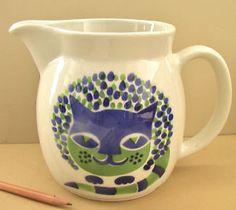 FINEL : Vtg ARABIA Cat Pitcher KAJ FRANCK Ceramic Milk Jug Finland Finnish Finel Modern | Sumally (サマリー)