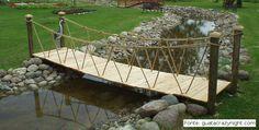 Resultado de imagem para ponte em madeira rustica