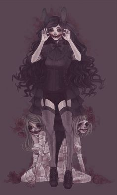 Find images and videos about anime, dark and creepy on We Heart It - the app to get lost in what you love. Anime Chibi, Manga Anime, Anime Art, Arte Horror, Horror Art, Creepy Drawings, Creepy Art, Scary, Fantasy Boy