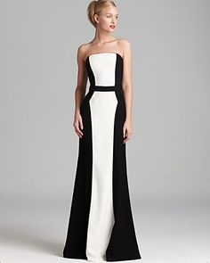 David Meister Gown - Strapless Colorblock | Bloomingdale's