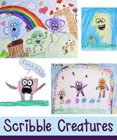 """Not Just a Scribble"" Creatures – Art is Basic | An Elementary Art Blog"