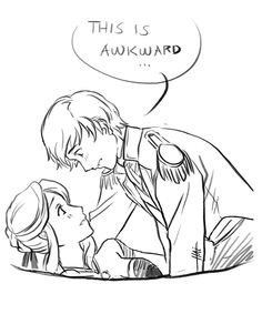 genderbent anna and hans by  << I mean, not that you're awkward. Just cuz we're...I'm ...awkward. You're gorgeous.