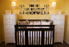 You Are Our Greatest Adventure Nursery or Child's Room Arrow Vinyl Wall Decal Nursery decor, decal, wall art, Baby room quote
