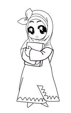 Widih Animasi Muslimah Berhijab Syaru002639i Yang Kece Badai