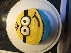 Minion cake I made for my son's 10th birthday