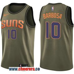 10b472d7706 Men s Nike Phoenix Suns Devin Booker Green Salute to Service NBA Swingman  Jersey