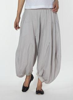 PLUS Clothing - Linen Dropped Crotch Pants