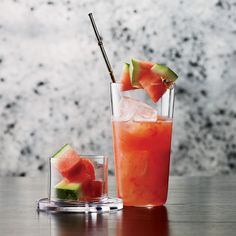 Sandia Smash | Fresh watermelon is one of the most appealing cocktail ingredients. In this refreshing variation of the caipirinha, it is both muddled and used for garnish.