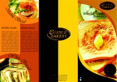 The Corner Bakery Brochure Design