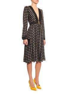 Square fil-coupé silk dress | Proenza Schouler | MATCHESFASHIO...