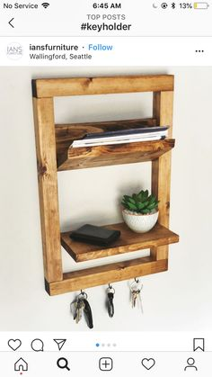 Diy Pallet Projects, Woodworking Projects Diy, Diy Wood Projects, Furniture Projects, Wood Crafts, Diy Furniture, Home Projects, Handmade Home, Diy Kitchen Decor