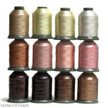 12 Spools SKIN/FLESH Tone Embroidery Machine Thread RT
