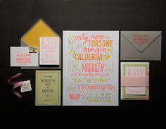 Ladyfingers Letterpress — Seven Arrows Poster Invitation