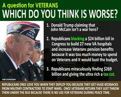 Republicans claim to support the troops, but in reality....................