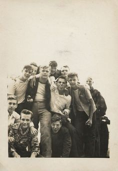 Group of teen boys, 1950s.