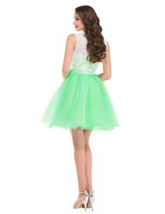 Ball Gown Elegant Lace Prom Dresses for Teens Knee Length Tulle Pageant dress Girls Vestidos Evening Short Gowns  6123
