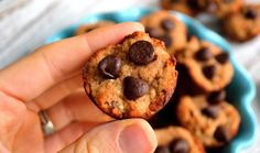 Banana Chocolate Chip Mini Muffins - Gluten and dairy-free  mini muffins that are so healthy that you won't feel guilty about indulging in one or two.  Try them for breakfast or a perfectly portioned snack!