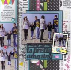 Amazing - Scrapbook.com - Made with Simple Stories DIY collection.