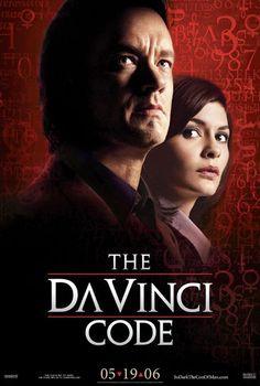 La locandina del film, uscito nel 2006 e diretto da Ron Howard, con Tom Hanks e Audrey Tautou.