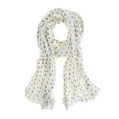 J.Crew Mini-prints scarf    anchors!