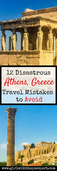 Whether you are looking to explore Athens Greece beaches, do some Athens Greece photography or planning some Athens Greece travel, this post is for you! This post details all the Athens Greece travel mistakes that you need to avoid when planning an Athens Greece Vacation, Greece Travel, Greece Trip, Road Trip Europe, Europe Travel Guide, Travel Tips, Travel Packing, Travel Ideas, Greece Photography