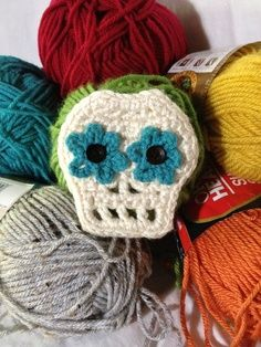 Double Flower Crochet Skull Hair Piece by DreyNationInc on Etsy, $8.50