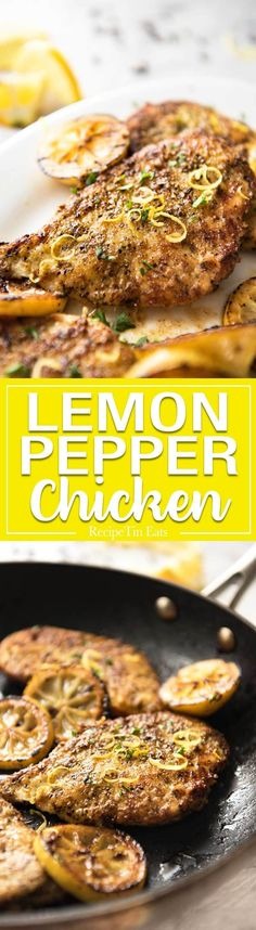 Forget store-bought seasoning! This homemade Lemon Pepper Chicken is so simple and fast, you can make it tonight. It tastes incredible! www.recipetineats.com