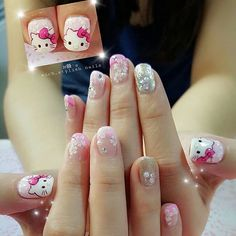 【mich_stylish】さんのInstagramをピンしています。 《Hello Kitty × Cherry Blossoms #michstylish #nailsbymichelle #nailsoftheday #homebase #homebased #nail2inspire #nailartdesign #hellokitty #nailart #gelpolish #hellokittynails #nailinstagram #nailartoohlala #cny2017 #cnynailart #nailartclub #nailbar #nailclub #cherryblossoms #kawaii #japanstyle #kawaiinails #ilovenailart》