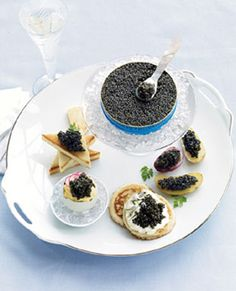 Dinner at Gideon's after the Hotel incident: Petrossian Ossetra Caviar  +  Vodka