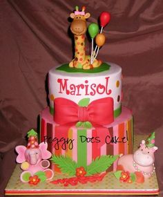 Sweet Safari In Pink Cake  By PeggyDoesCake CakesDecorcom