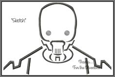 Star Wars Rouge One's K-2S0 Embroidery Machine Sketch Design File 4x4 5x7 6x10 by Thanks4TheAdventure on Etsy