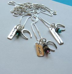 Horseshoe name tag necklace - Love!