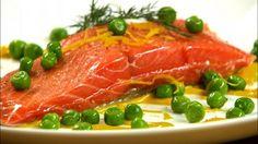 Wild Salmon Sous Vide with Lemon Wasabi Aioli