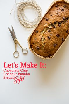 Chocolate Chip Coconut Banana Bread by @Spoon Fork Bacon #HolidayCocktailParty