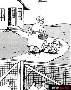 "LOVE the message of this Gary Larson ""Far Side"" cartoon! #MyVeganJournal"