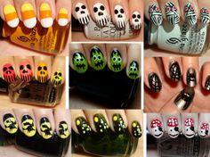 Uñas para Halloween, encuentra más diseños para Halloween aquí...http://www.1001consejos.com/unas-paso-paso-para-halloween/