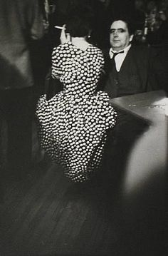 Saul Leiter dotted dress